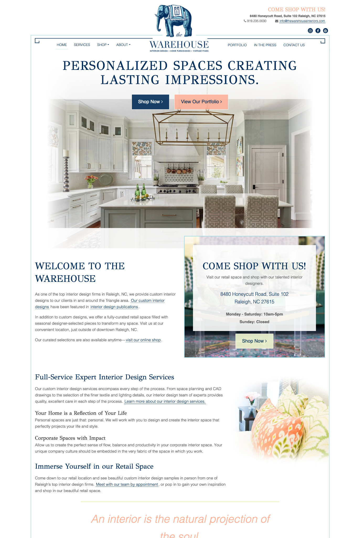 Custom WordPress website design for Raleigh business solves visitor challenges.