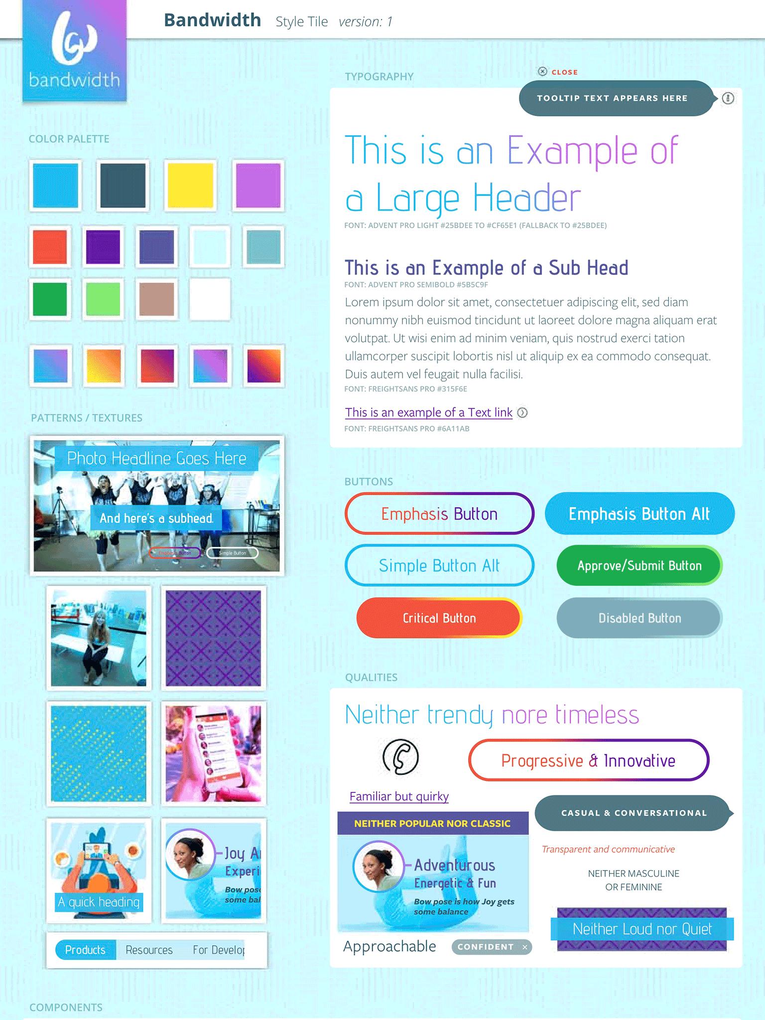 Bandwidth Style Tile final design comp