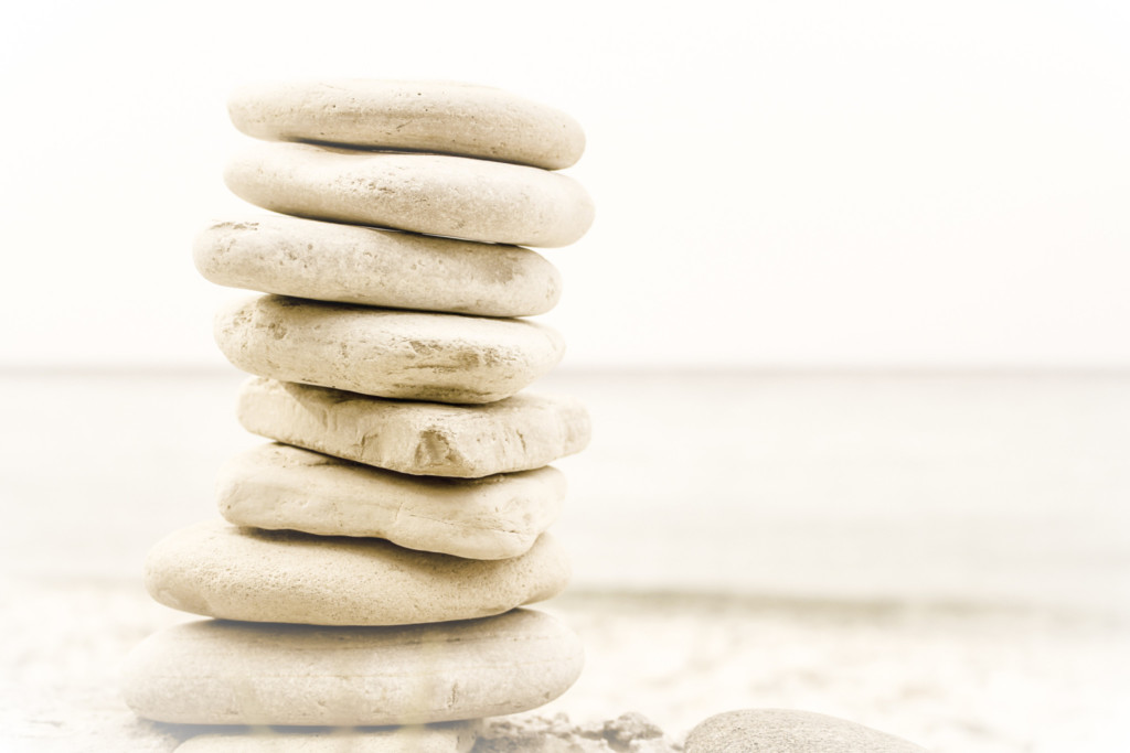 Photo of a stack of stones on a beach